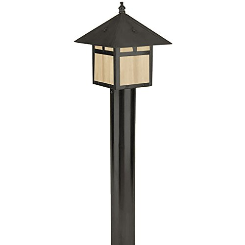 Focus AL-09-LEDP52ALUMBLT Outdoor Area Light with White Plastic Shades, Black Finish