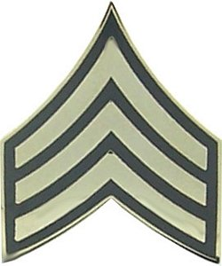 US Army E-5 Sergeant Rank Lapel Pin