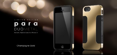 Special Sale Para Duo Metal for iPhone 5 (Champange Gold-Light Gold)
