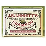J.R. Liggett's, Old Fashioned Bar Shampoo, Tea Tree & Hemp Oil, No Fragrance, 3.5 oz (99 g) 3 Pack