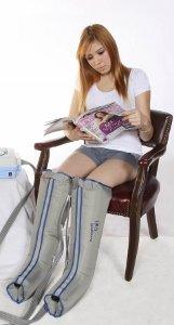 Compression Pump and Garment-Half Leg Complete Set images