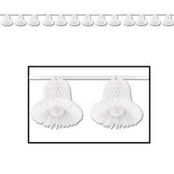 Tissue Bell Streamer (white) Party Accessory  (1 count) (1/Pkg) (Bell And Streamers compare prices)