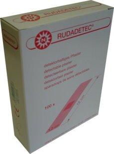 Rudadetec 100 Stück Pflaster lang für die Lebensmittelindustrie 1,2 x 12,0 cm