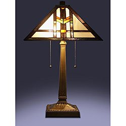 tiffany style mission table lamp small table lamp. Black Bedroom Furniture Sets. Home Design Ideas