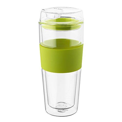 takeya double wall glass tea coffee tumbler green 16 ounce new ebay. Black Bedroom Furniture Sets. Home Design Ideas