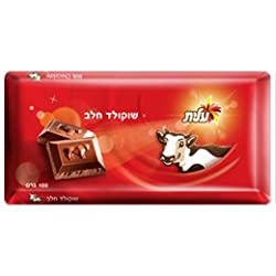 Lot of 10 Jewish Israeli Certified Kosher Milk Chocolate tablets – 2.2 lbs total