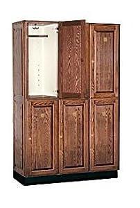 Executive Double Tier 3 Wide Locker Color: Dark Oak, Size: 76 H x 48 W x 18 D by Salsbury Industries