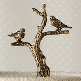 Birds on Branch Antique Metal Finial