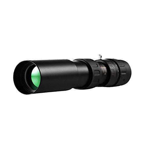fenrad®Monoculaire Zoom Pocket Telescope Portée 10-90x25 Dual Focus télescope monoculaire Super Clear réglable pour Camping Tourisme Chasse extérieure