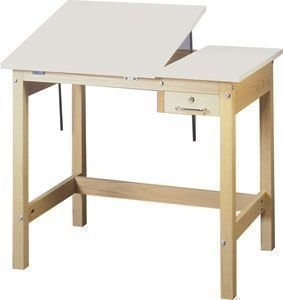 SMI Split Table in Natural Oak Finish (30 in. L x 42 in. W x 30 in. H)