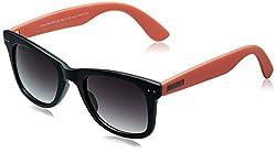 MTV Roadies Wayfarer Sunglass (Black and Orange) (RD-112-C8)