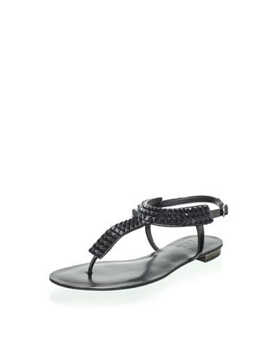 Schutz Women's Studded Thong Sandal  - Black