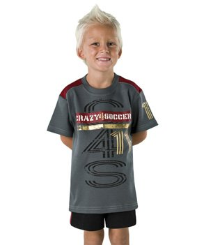 Boy'S Crazy 4 Soccer 11 Tee Shirt, Size 8/9 front-1008036