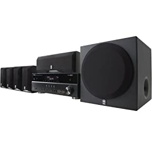 Yamaha YHT-595BL Complete 5.1-Channel Home Theater System