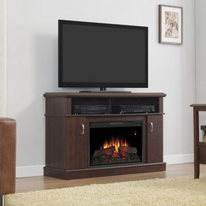 Classicflame Dwell Electric Fireplace Entertainment Center In Midnight Cherry - 26Mm5516-Pc72