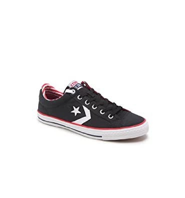 CONVERSE MENS STAR PLAYER BLACK & AMERICANA SKATE SHOE STYLE: 140706C-BLACK SIZE: 13 M US