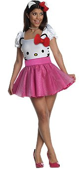 Hello Kitty Dress Sanrio Sexy Adult Women's Costume