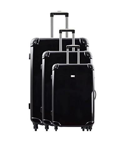 POTIRON Set 3 Trolley Rigido Airline [Nero]