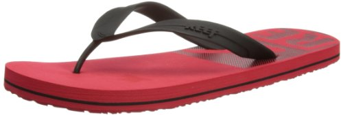 Reef Mens Pulse TQT Thong Sandals R2142REB Red/Black 7 UK, 40 EU