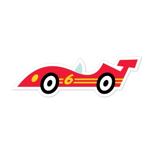 Walls 360 Peel & Stick Wall Decals: Caleb Gray Studios Red Race Car (12 in x 4.25 in)