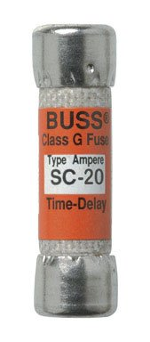 Bussmann Bp/Sc-20 20 Amp Time-Delay Class G Melamine Tube, 600V Ul Listed Carded, 2-Pack
