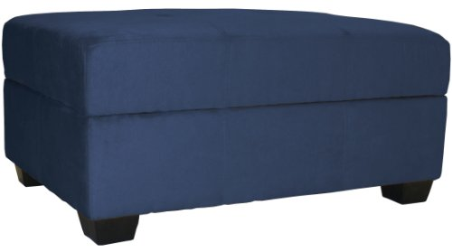 Epic Furnishings 36 by 24 by 18-Inch Storage Ottoman Bench, Dark Blue