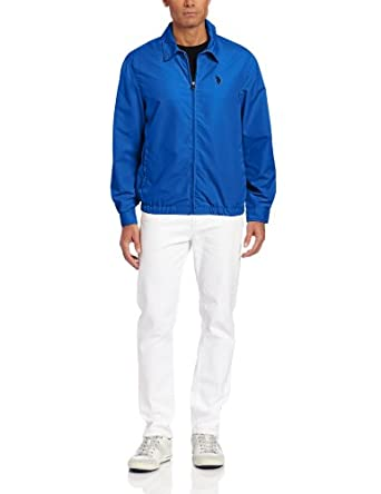 U.S. Polo Assn. Men's Micro Golf Jacket, China Blue, X-Large