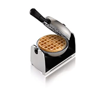 Unique rotating flip design for evenly baked waffles every time. view larger     Bake delicious waffles--quickly, easily, and healthfully. view larger     Natural non-stick ceramic coating releases waffles effortlessly. view larger     Adjusta...