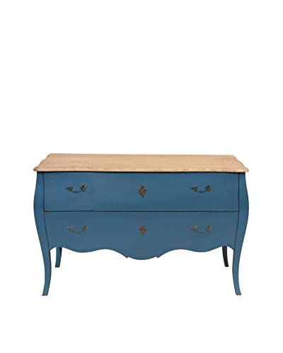 Jeffan Fiji Solid Wood 2-Drawer Dresser, Blue
