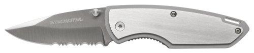 Winchester 31-000312 2.6-Inch Serrated Edge  All Steel Clip Folder Knife