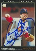 Omar Olivares St. Louis Cardinals 1993 Pinnacle ááAutographed Hand... by Hall of Fame Memorabilia