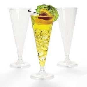 100 Plastic Wedding Champagne Flutes Glasses Party Celebration