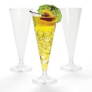 OTC 100 Plastic Wedding Champagne Flutes Glasses Party Celebration