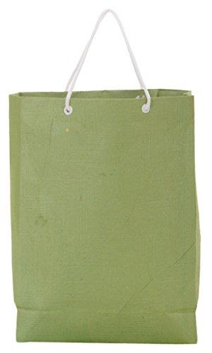 Utsav Kraft Paper 3 Ltrs Green Reusable Shopping Bags (pack Of 10) - B01M0EUP3C