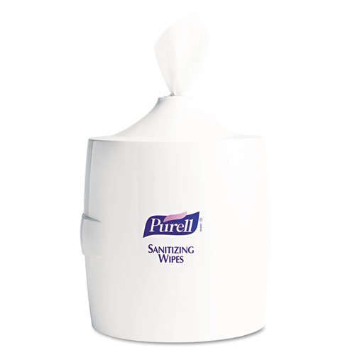 Purell - Hand Sanitizer Wipes Wall Mount Dispenser, 700/1200 Wipe Capacity, White 9019-01 (Dmi Ea front-684125
