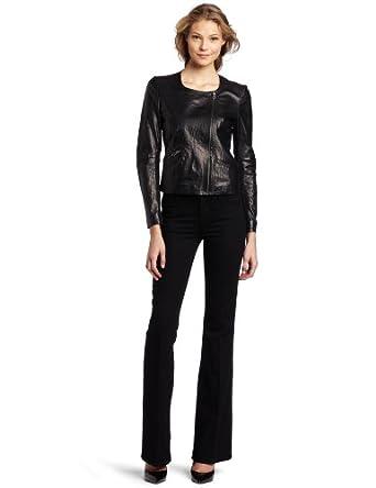 Rebecca Minkoff Women's Ryder Leather Jacket, Black, Small