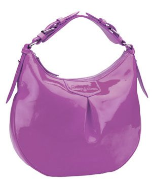 Dooney Bourke Patent Leather Luisa Hobo Shoulder Bag Purple