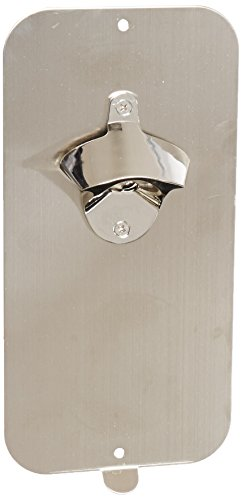 Master Magnetics  07581  Magnetic Bottle Opener and Cap Catcher,Brushed Stainless Steel,5 Wide, 10.5 Height(Box of 1)