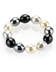 M&S Collection Pearl Effect Stretch Bracelet