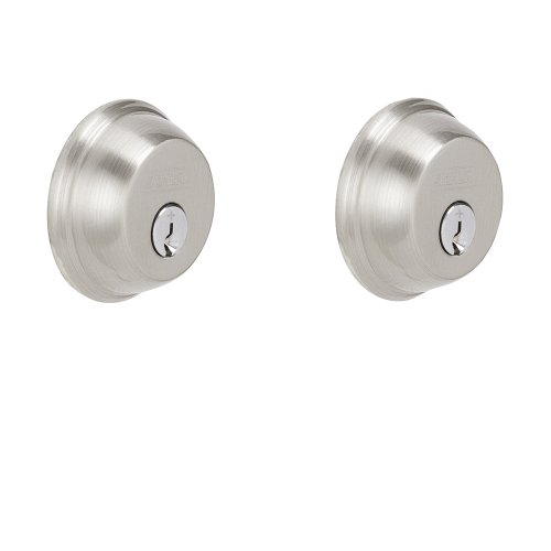 Schlage B62N619 Deadbolt, Keyed 2 Sides, Satin Nickel (Grade 1 Deadbolt compare prices)