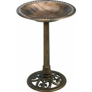 Gardman BA01281 Antique Bronze Pedestal RESIN Bird Bath