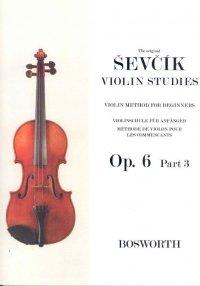 Otakar Sevcik: Violin Studies - Violin Method For Beginners Op.6 Part 1