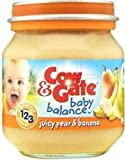 TRIPLE PACK of Cow & Gate Baby Balance J 4M+ Juicy Pear & Banana 125G