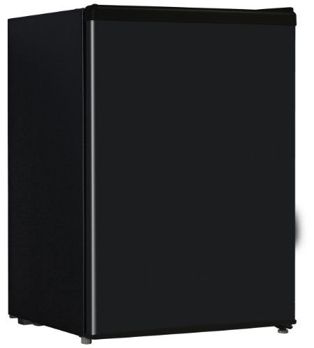 Midea Hs-87L Compact Single Reversible Door Refrigerator With Freezer, 2.4 Cubic Feet, Black