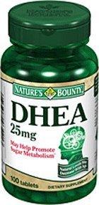 Pack spécial de 5 NATURES BOUNTY DHEA 25mg 100