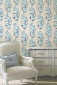 Fine Decor Evie Wallpaper - Teal by New A-Brend