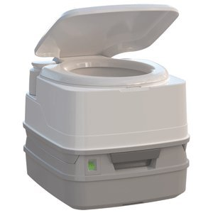 Thetford Porta Potti 260P MSD Marine Toilet 90¡ã with Piston Pump, Level Indicator, and Hold-Down Kit