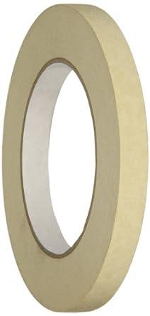 Intertape PG505 Crepe Paper General Purpose Utility Grade Masking Tape, 20 lbs/inch Tensile Strength, Natural