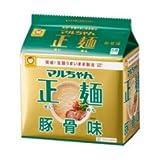 東洋水産 マルちゃん正麺 豚骨味 袋 ケース 91g×5食×6