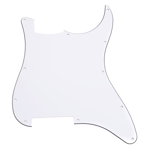 1Pc White 3Ply 11 Holes Not Carved Pickguard For Strat Stratocaster Electric Guitar